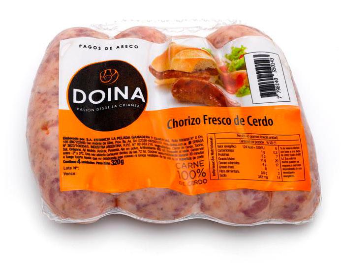 Doina - Chorizo fresco - paquete